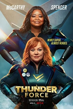 Thunder force op netflix is grappig!