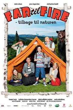 Vader met vier kinderen - Terug naar de natuur
