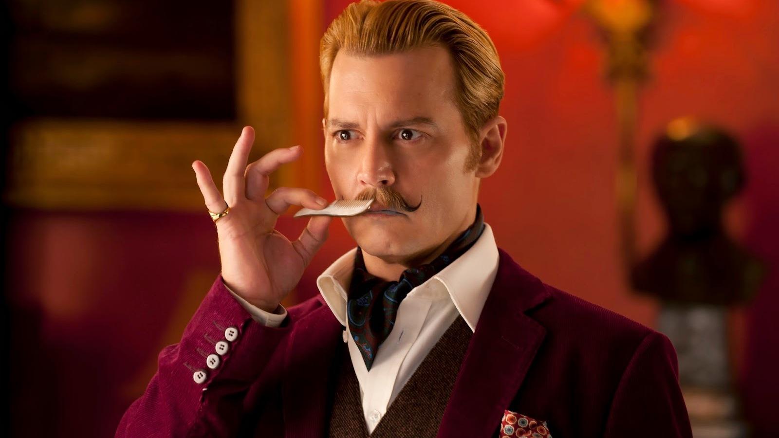 Johnny Depp laat je lachen in nieuwe trailer 'Mortdecai'