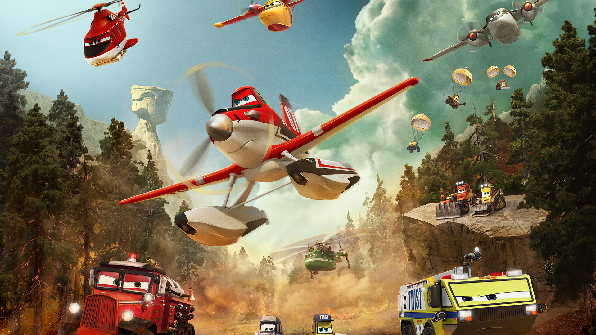 Verlengde trailer 'Planes: Fire & Rescue'
