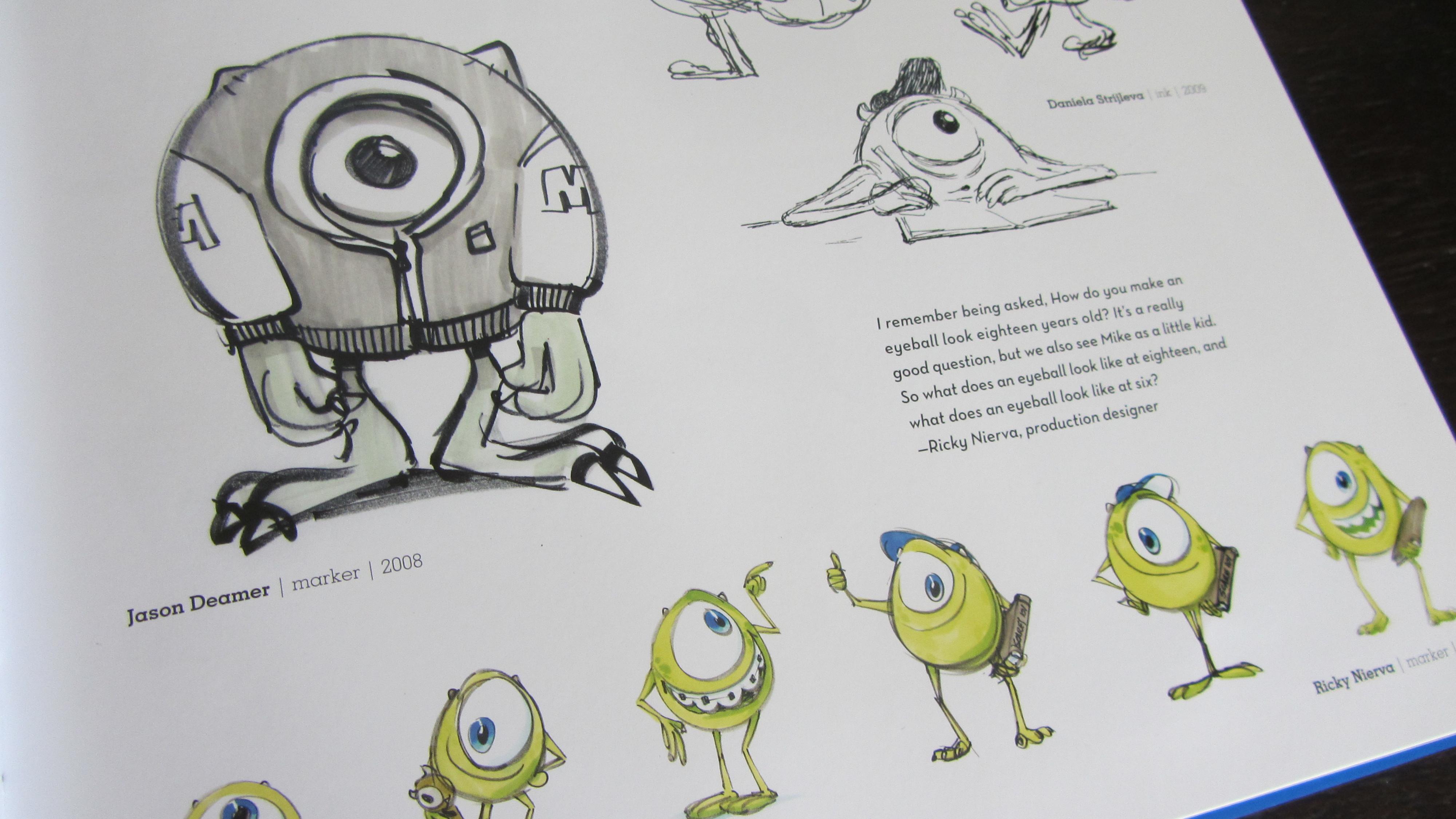 Fraai boek - The Art of Monsters University