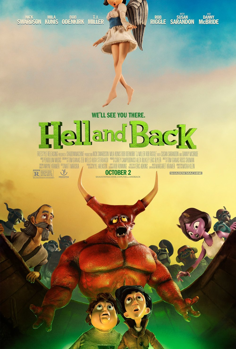 Duivelse Mila Kunis in eerste clip 'Hell and Back'