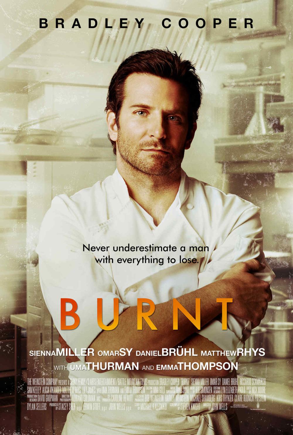 Coole kok Bradley Cooper in nieuwe trailer 'Burnt'