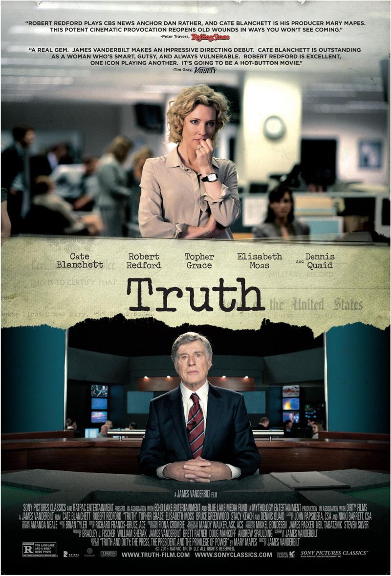 Eerste trailer 'Truth' met Cate Blanchett en Robert Redford