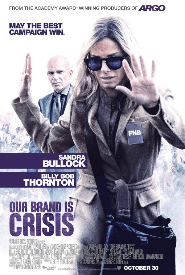 Eerste trailer en poster 'Our Brand is Crisis'