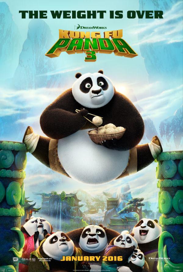 Geinige teaserposter 'Kung Fu Panda 3'