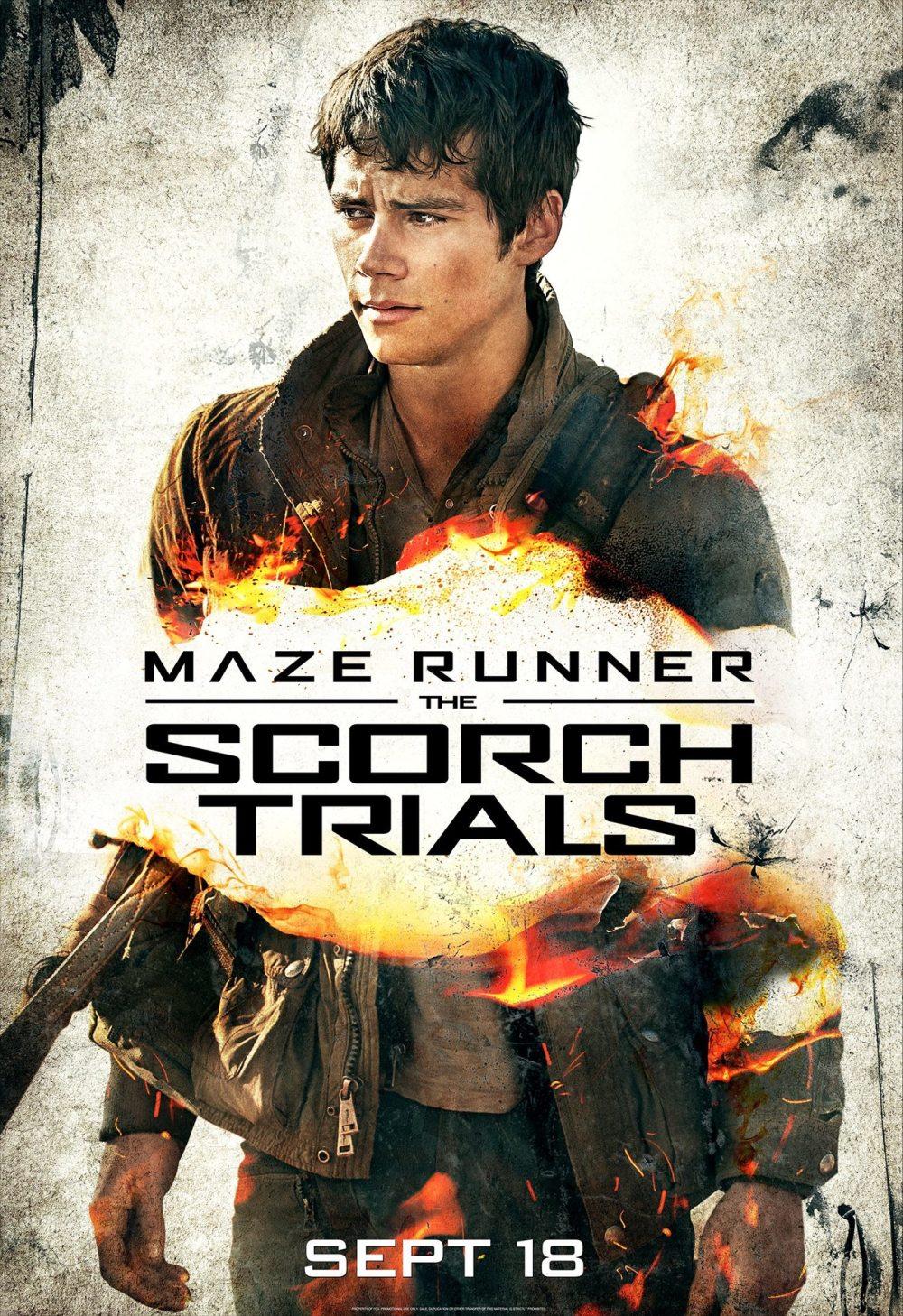 Dylan O'Brien op nieuwe poster 'Maze Runner: The Scorch Trials'