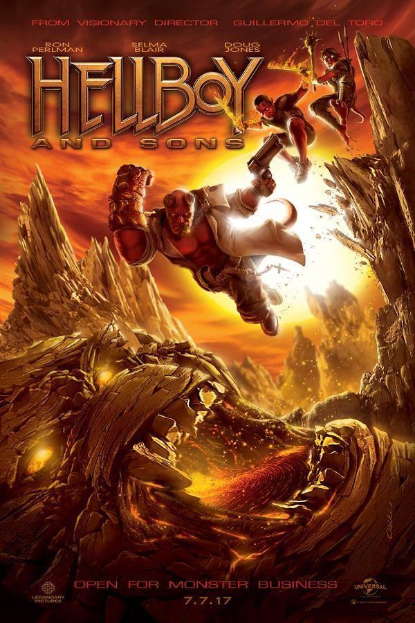 Fraaie fan-made poster voor 'Hellboy 3'