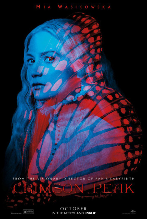 Oudmodische karakter posters Guillermo del Toro's 'Crimson Peak'