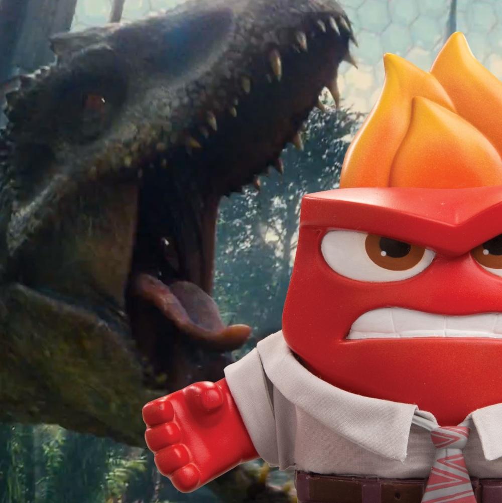 Pixars 'Inside Out' loopt binnen en 'Jurassic World' blijft ontembaar gretig