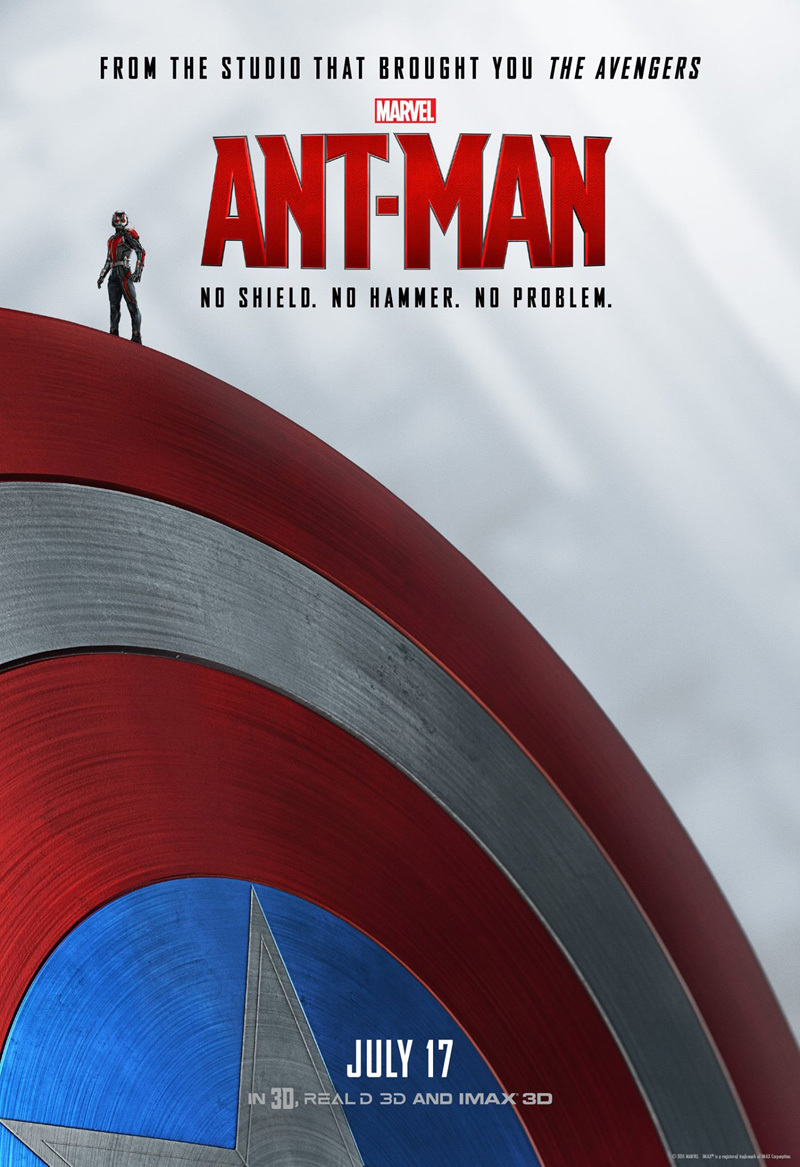 Drie geinige posters Marvels 'Ant-Man'