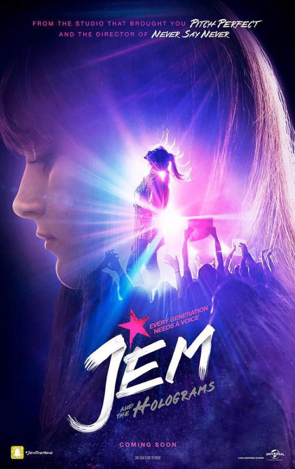 Eerste trailer en poster 'Jem and the Holograms'