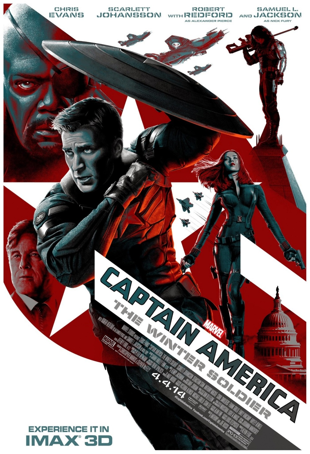 'Captain America: The Winter Soldier' heeft beste filmposter van 2014
