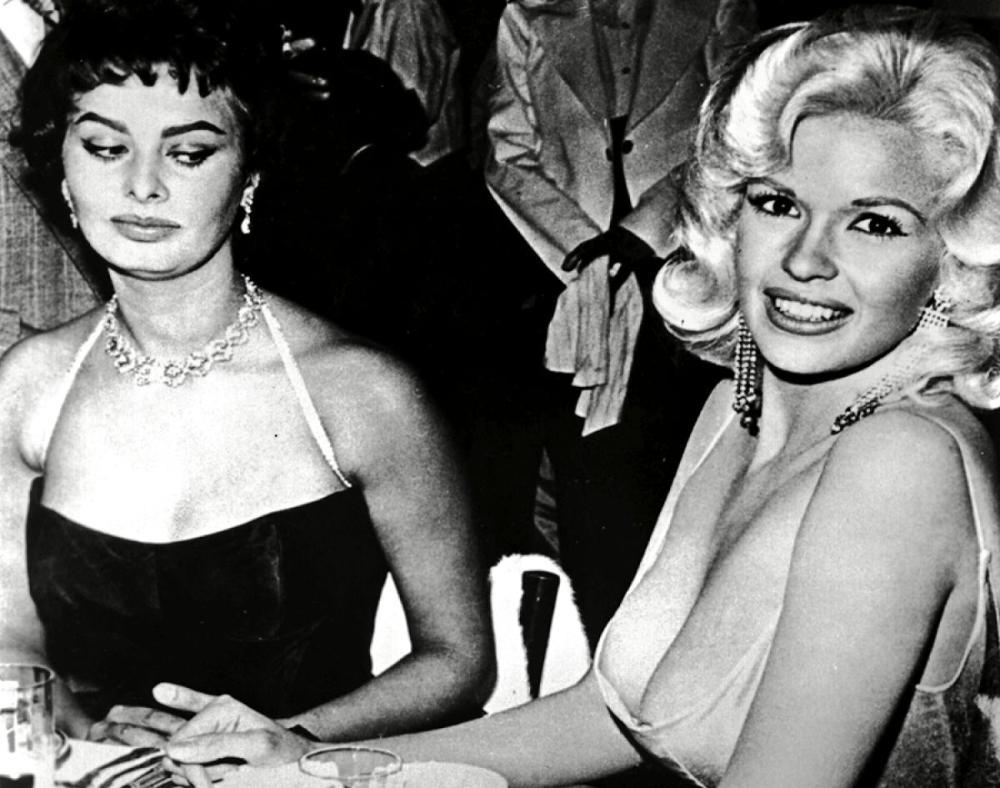 Sophia Loren en die Jayne Mansfield foto