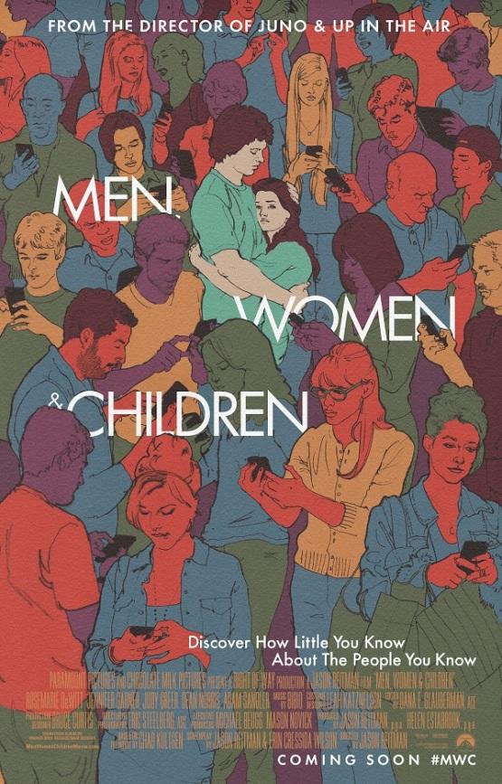 Artistieke poster Jason Reitmans 'Men, Women & Children'