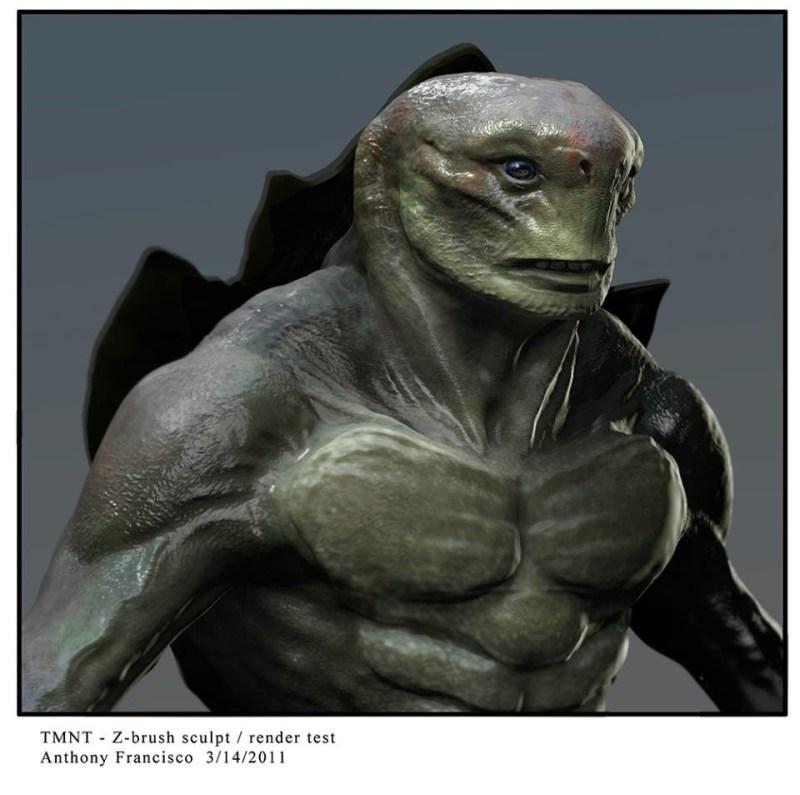 Bizarre en bijna enge concept-art 'Teenage Mutant Ninja Turtles'
