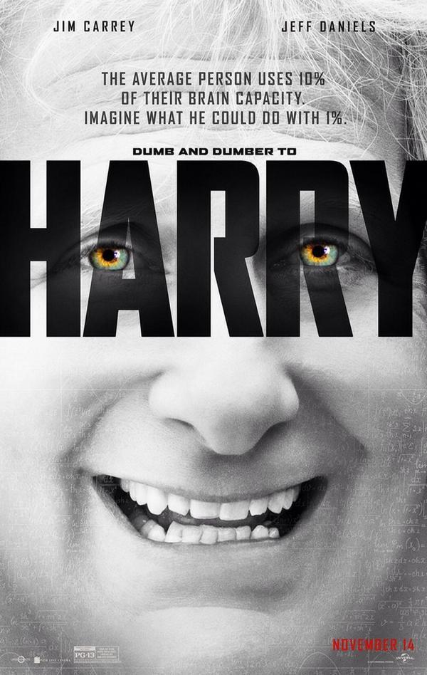 Nieuwe 'Dumb and Dumber To' posters parodiëren 'Lucy'