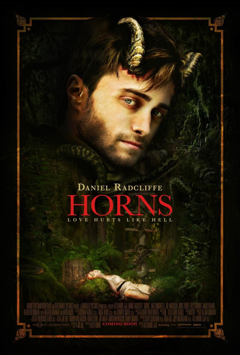SDCC: Nieuwe poster van Daniel Radcliffe in 'Horns'