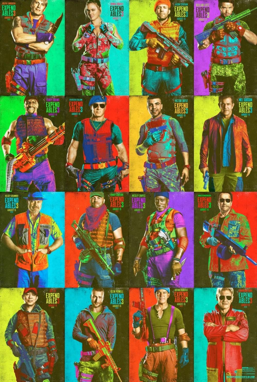 SDCC: Kleurrijke personageposters 'The Expendables 3'