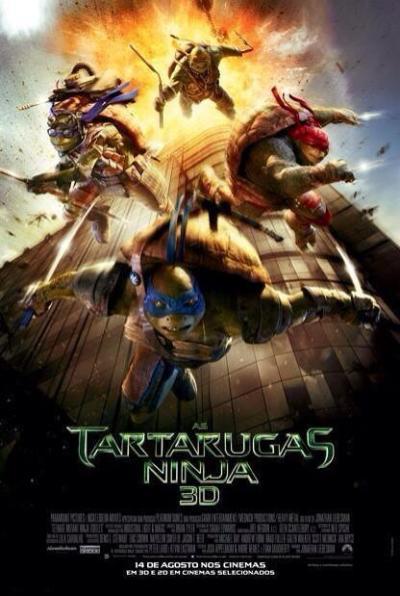 Alle schildpadden verzameld op poster 'TMNT'