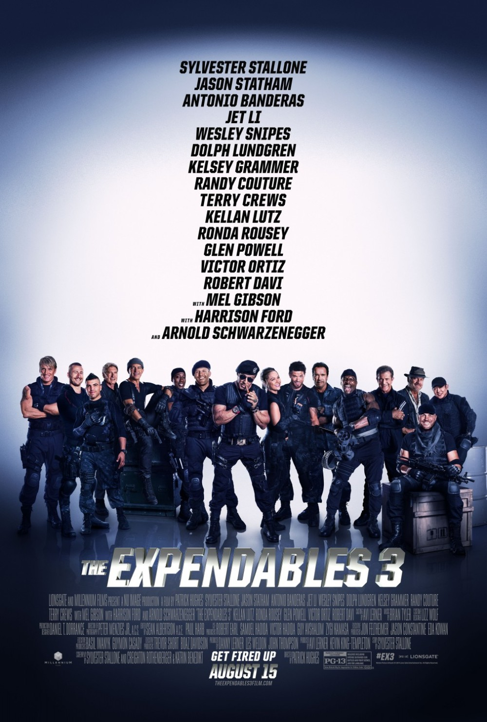 Verlengde tv-spot & poster 'The Expendables 3'