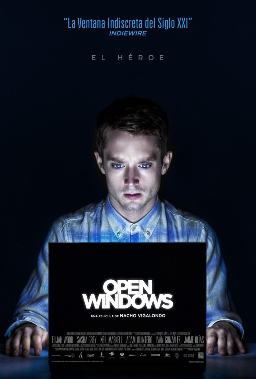 Nieuwe poster van thriller 'Open Windows' met Elijah Wood