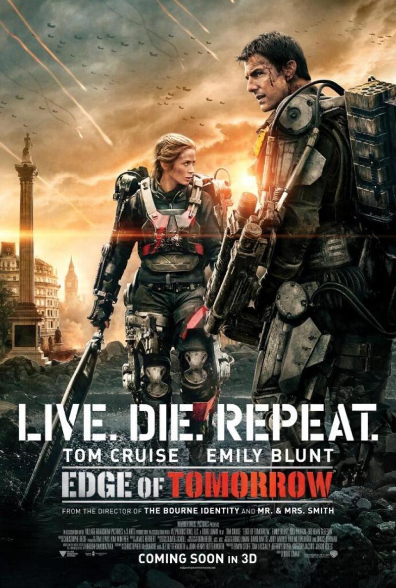 Londen is het haasje op nieuwe poster 'Edge of Tomorrow'
