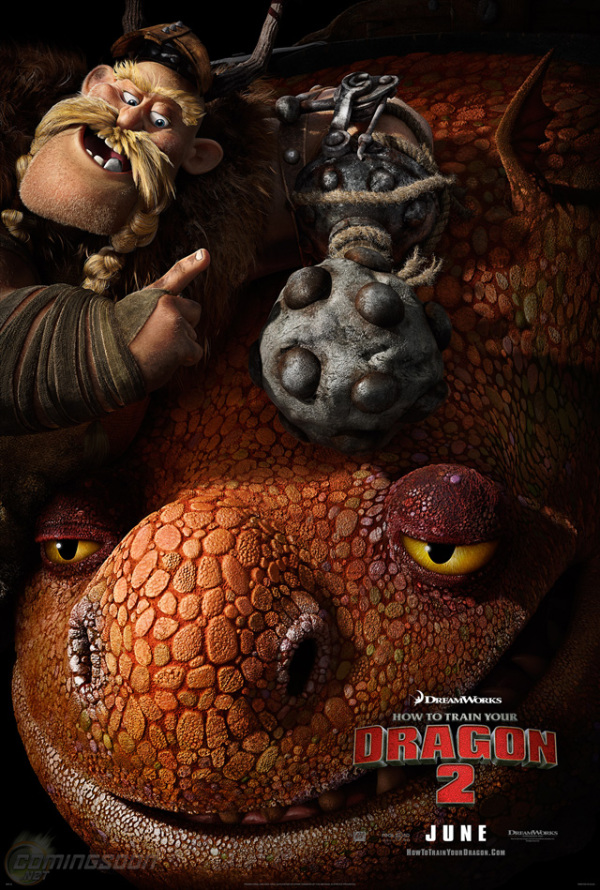Vrolijke personageposter 'How to Train Your Dragon 2'