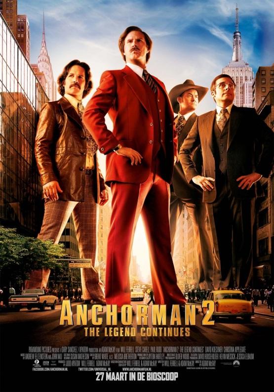 'Anchorman 2' inderdaad in Nederlandse bioscopen