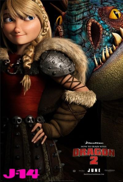 Astrid en Stormfly staan centraal op nieuwe poster 'How to Train Your Dragon 2'
