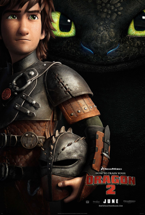 Nieuwe poster 'How To Train Your Dragon 2'