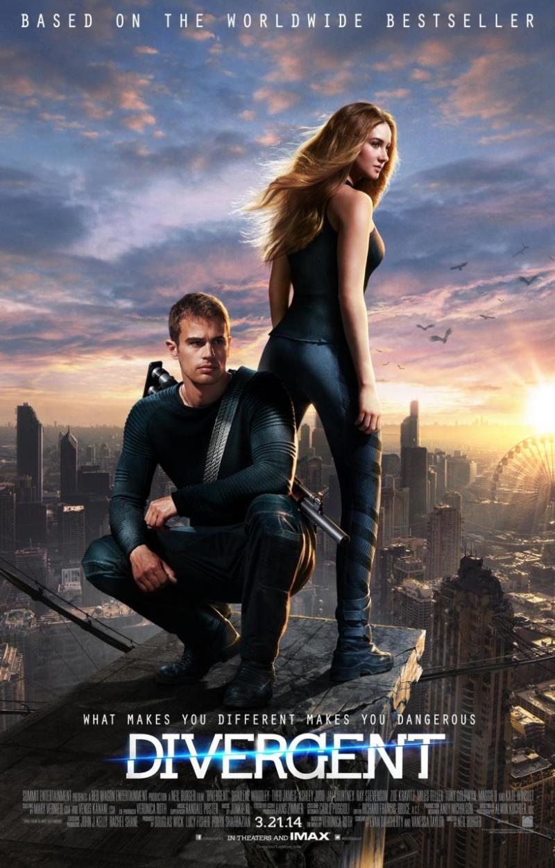 Poster 'Divergent' toont Shailene Woodley en Theo James