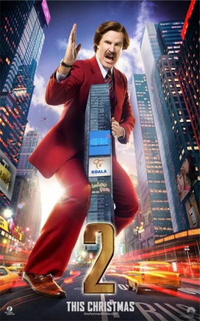 Stoere en gekke bekken op 'Anchorman 2: The Legend Continues' posters