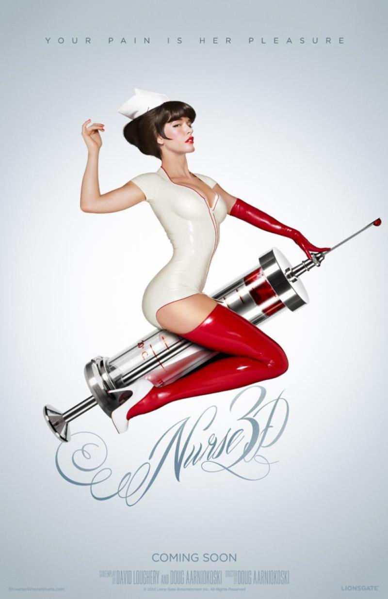 Wederom een opvallend affiche voor 'Nurse 3D'