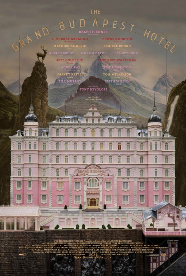 Eerste poster Wes Anderson-film 'The Grand Budapest Hotel'