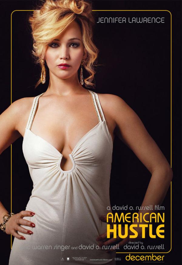 Vijf personageposters 'American Hustle'