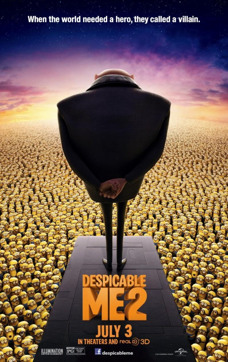 Definitieve filmposter 'Despicable Me 2'