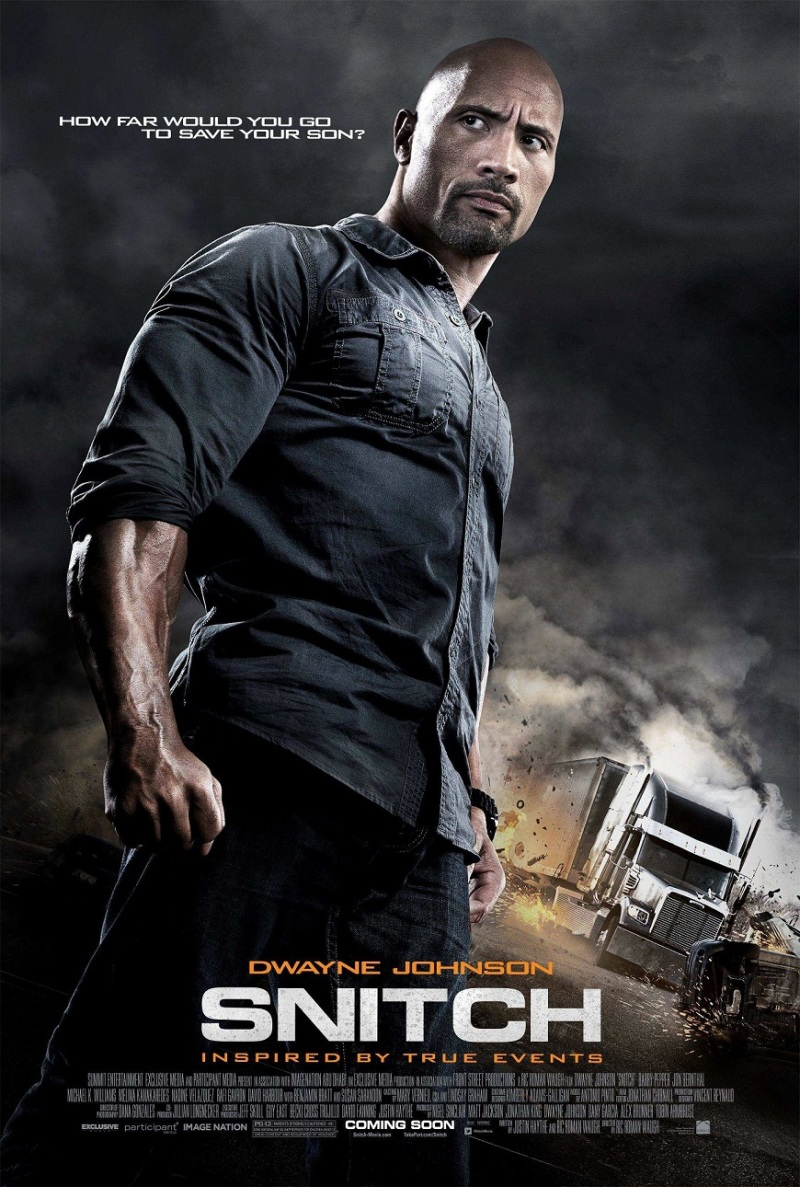 Eerste poster Dwayne Johnson in 'Snitch'