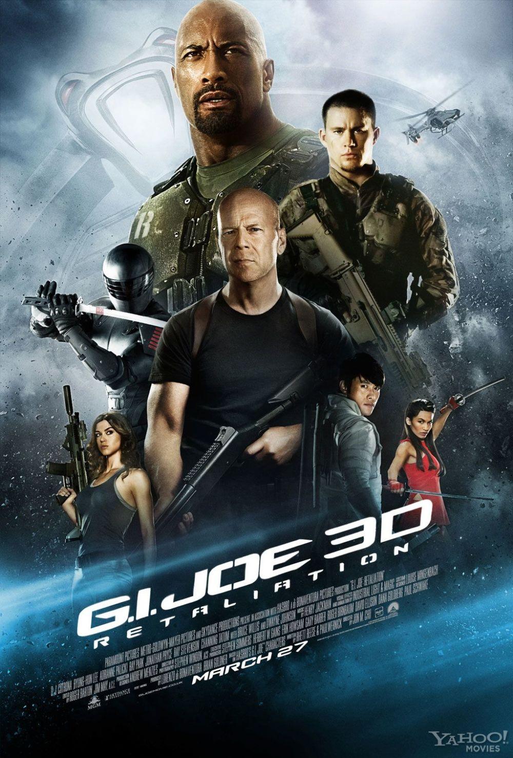 Poster uitgestelde 'G.I. Joe 3D: Retaliation'