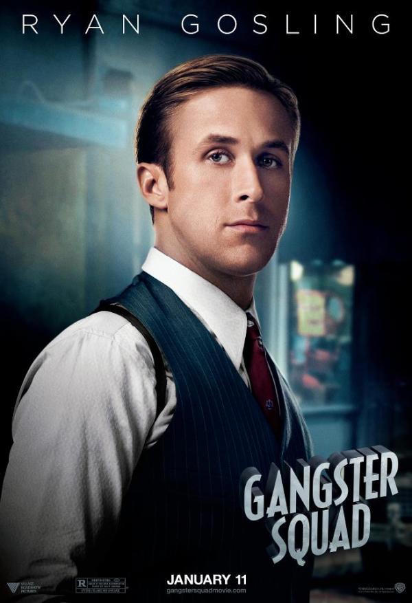 Negen personageposters 'Gangster Squad'