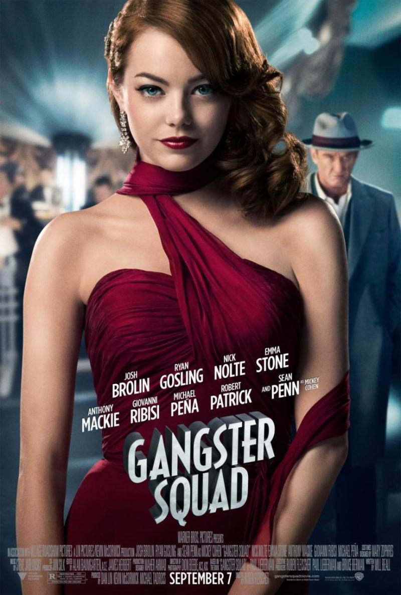 Vijf personageposters 'Gangster Squad'