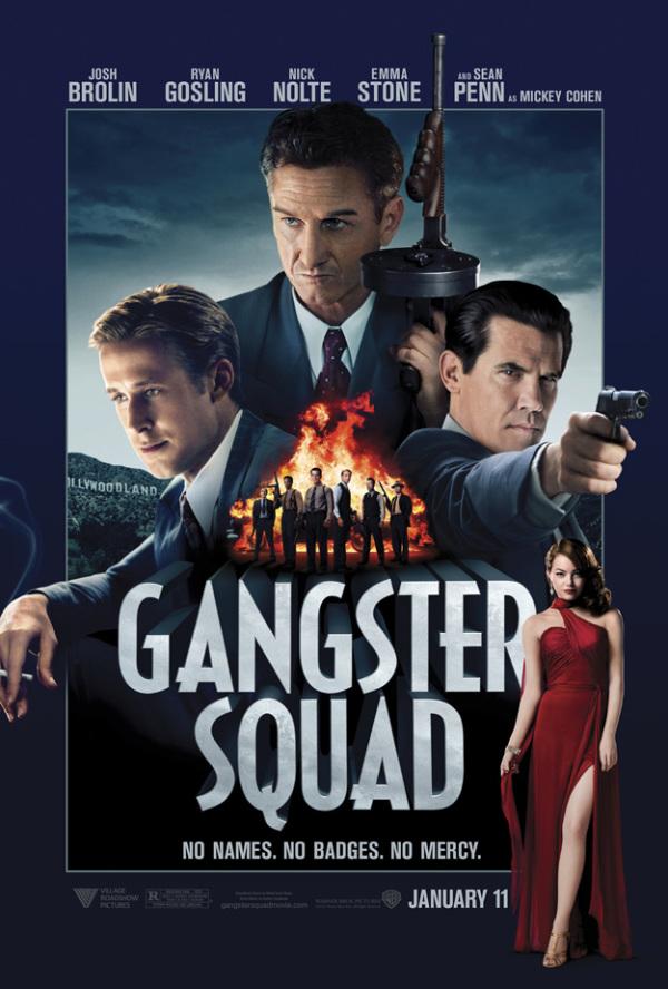 Gloednieuwe poster 'Gangster Squad'