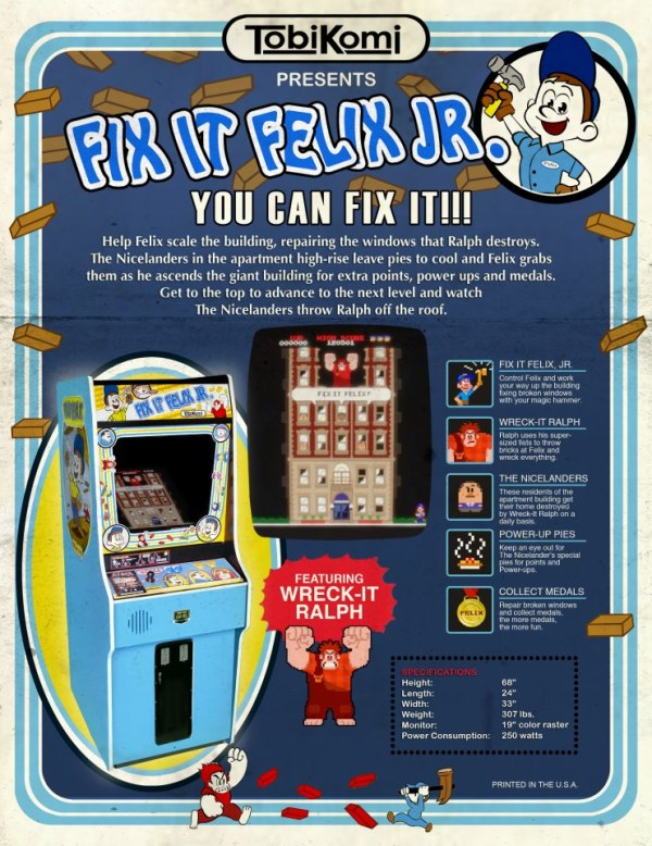 Coole retro commercial voor 'Wreck-It Ralph' arcadespel