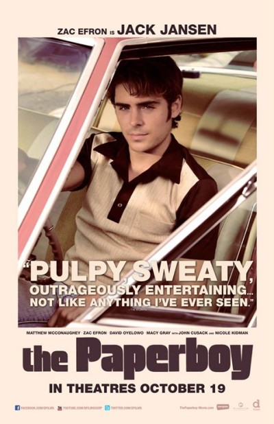 Vier posters van thriller 'The Paperboy'