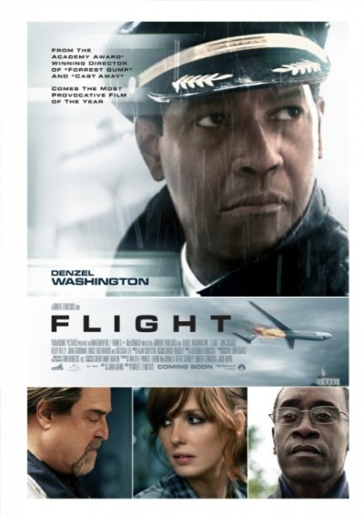 Twee posters en tv-spots Robert Zemeckis' 'Flight'