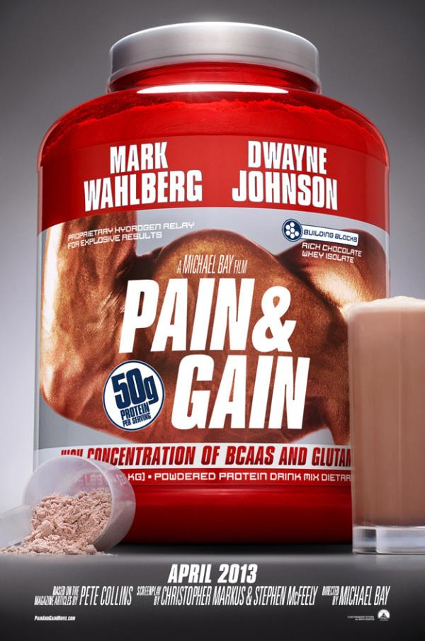 Eerste poster voor Michael Bay's 'Pain & Gain'