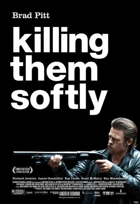 Brad Pitt met shotgun op nieuwe poster Killing Them Softly