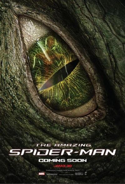 Herkenbare poster voor The Lizard uit The Amazing Spider-Man