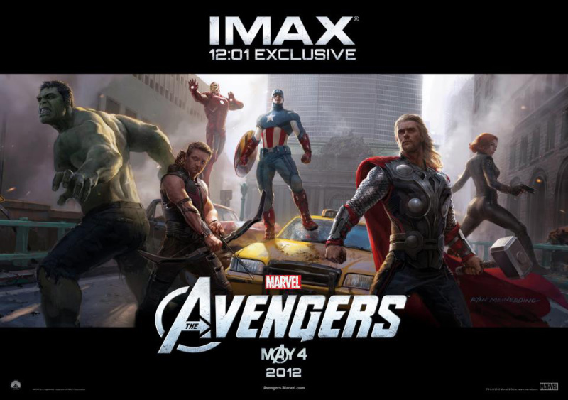 Fraaie IMAX poster The Avengers