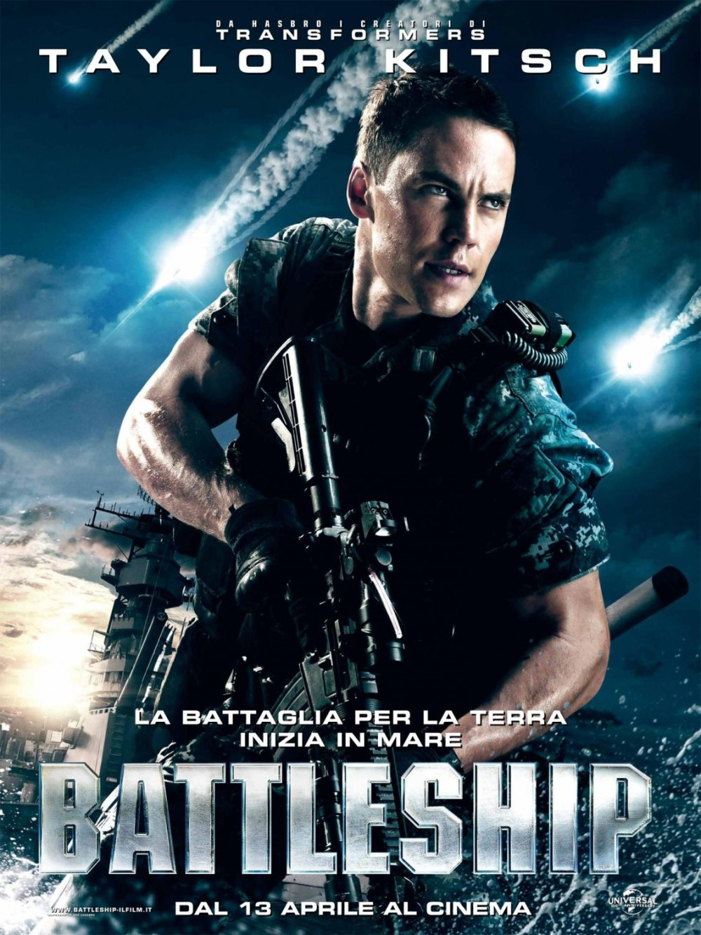 Vijf personageposters Battleship